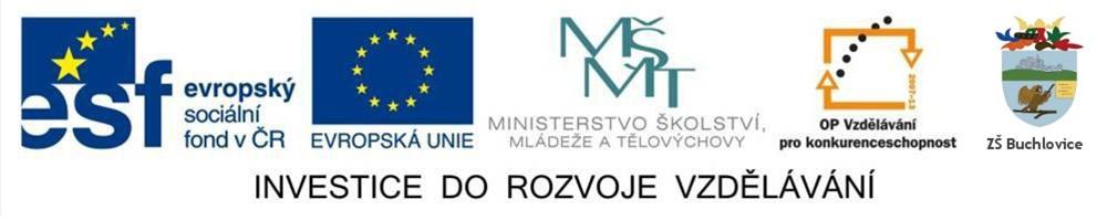 Logo projektu Investice do rozvoje vzdělávání